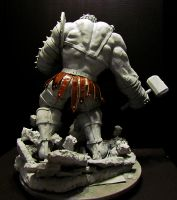 Planet Hulk statue back by mycsculptures