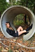 Ashlee - inside pipe 1 by wildplaces