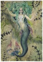 A Somewhat Gothly Mermaid by liselotte-eriksson