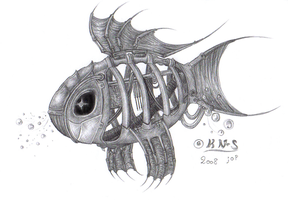 Philibert the Mechanical Fish by Vaelyane