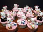 Hello Kitty Cupcakes by Sliceofcake
