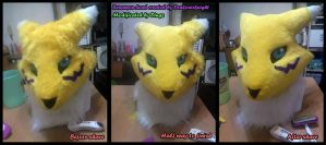 Renamon project reconstruction #1 Head by Dingz