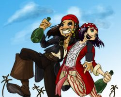 Yo ho ho and a bottle of rum by Horuni
