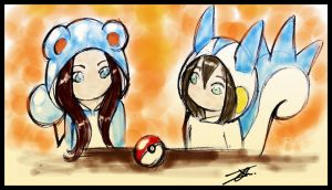 A pokeball by NienorGreenfield
