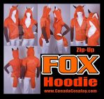 Zip Fox Hoodie Kitsune Cosplay by calgarycosplay
