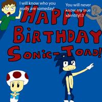 Happy Birthday Sonic-Toad by SourHex