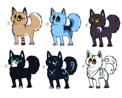 Adoptable batch CLOSED .::4 points each::. by RippedMoon