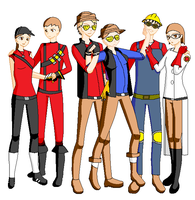 TF2 Friends Group Shot by ThatOtherFangirl