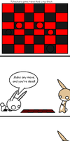 Cracked Rabbits - Checkers Game by 3933911