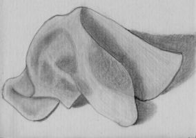 Draped Cloth Napkin in Graphite Pencil by ChrisDutton