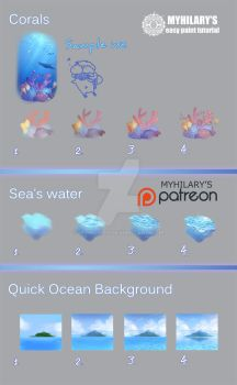 Easy Paint Tutorial - Sea 1 by myhilary
