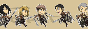 Stickers: Attack On Titan Set 1 by forte-girl7