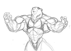 Anthro wip - Bear by Gettar82