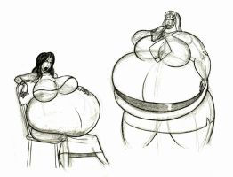 Chelsea vs Lucy eating contest by FatClubInc