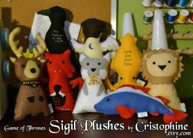 Game of Thrones Sigil Plushes by Cristophine