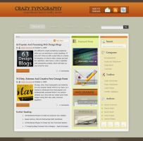 1st Crazy Typography Theme by dainix