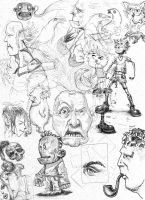 Sketches and Doodles 03 by phoebus-chango