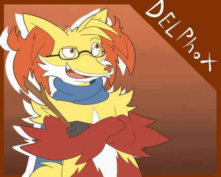 Tony the Delphox by Glassesgator by Shaprite91