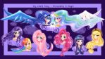 Humanized Ponies by moon-valkyrie