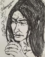 Smoking!Snape by CR-MediaGal