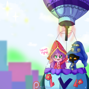 (+SPEEDPAINT) We are flying! by Sweet-Pillow