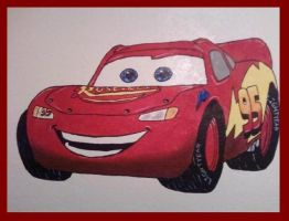 LIGHTNING MCQUEEN MURAL by KYLE-CHANEY