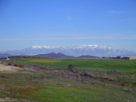 San Bernardino mountains from French Valley by climber07