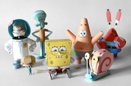 Spongebob and Friends Papercraft by kamibox