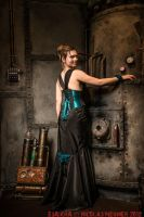 Turquoize underbust corset dress 2012 collection ' by Esaikha