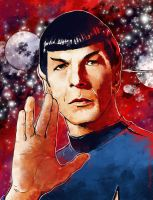Farewell Leonard Nimoy by FlyingRotten