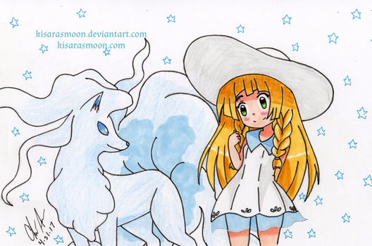 Lillie and Ninetales by Kisarasmoon