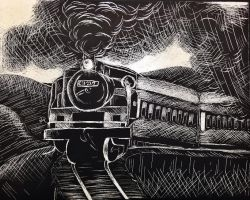 Train ScratchBoard by YellowDrifloons