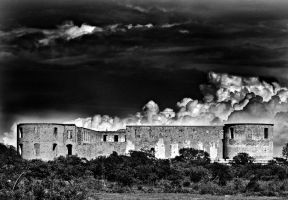 Borgholm Castle Ruin by almasart