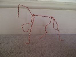 My First Ever Sculpture- Armature by TashaCraven