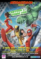 Southampton Cartoon and Comic Con 2014 by Carl-Riley-Art