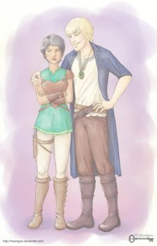 Seven Realms: Raisa and Han by mseregon