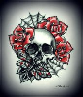 SKULL tattoo design by MWeiss-Art