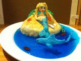 Mermaid Cake by MomIsMean