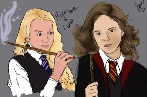 Hermione and Luna by SmileWhenDead