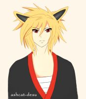 Unnamed OC - Jolteon boy Gijinka by Ashcat-desu