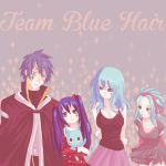 Request - Team Blue Hair by colored-sky