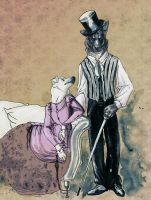 victorian dogs by unka