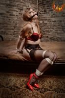 Missy bound on the bed by Damien2011