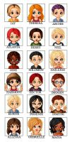 Class of the Titans dolls by LovesDarkness