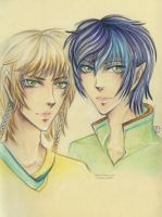Best Friends: Tsukiya and Alvern by Khallandra