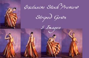 Striped Gown Exclusive2 by DigitalAlchemy-Stock