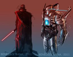 Dual character COncept designs by benedickbana