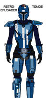 MS-Paint Mandalorian SWTOR  Female Retrocrusader by JaroKrieg