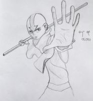 Doodles: 1 - Aang by Gingerspine