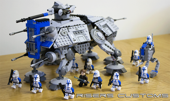 Lego Star Wars Custom Republic 501st AT-TE / AT-RT by Riser38